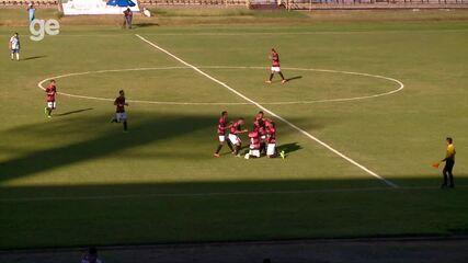 Flamengo-PI sai na frente, mas sofre gol de empate do Parnahyba nos acréscimos