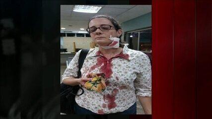 Mulher diz que foi ferida por bala de borracha durante manifestação de sexta (28)