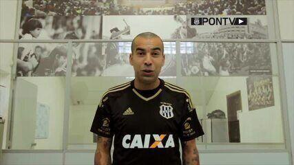 Sheik chega à Ponte Preta e convoca a torcida para a final do Campeonato Paulista