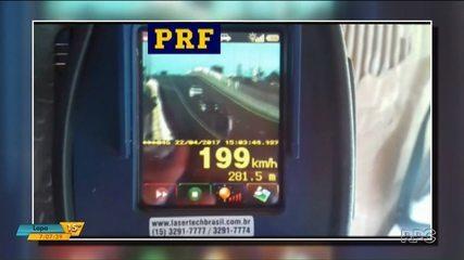 O excesso de velocidade representa 60% das multas a motoristas