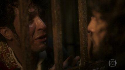 Chalaça se desespera e não diz o nome de Domitila para Joaquim