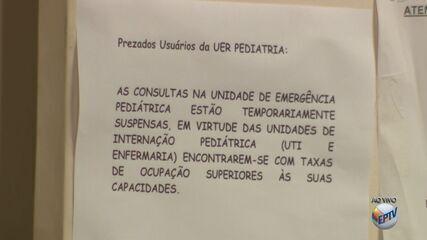 Superlotação fez HC da Unicamp suspender atendimentos em UTI e PS infantil
