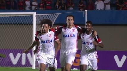 O último gol de Damião: Atlético-GO 0 x 3 Flamengo, pela segunda rodada do Brasileiro