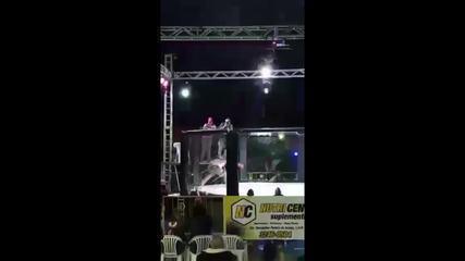 Ludy Goulart sofreu lesão cervical em evento de MMA em Minas Gerais