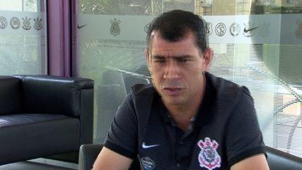 Fábio Carille responde sobre o atacante Romero