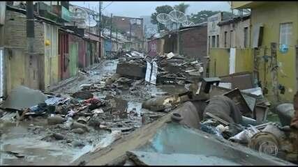 Desabrigados pela chuva são quase 80 mil em Pernambuco e Alagoas