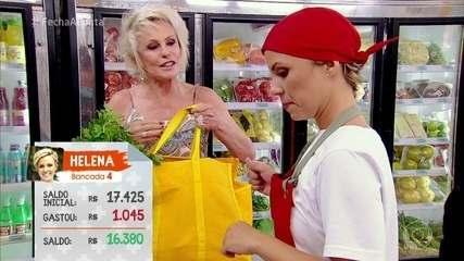 Participantes fazem as compras para a prova do nhoque no 'Fecha a Conta Massas'