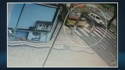 Mulher é atropelada por ônibus com criança no colo em Paulínia; veja o vídeo