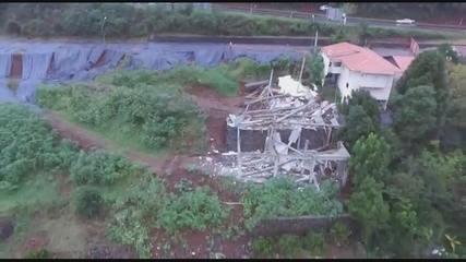 Vídeo mostra prédio que desabou em Concórdia