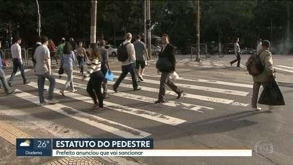 Câmara Municipal aprova estatuto para proteger o pedestre