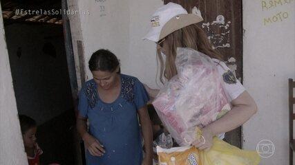 Solange Almeida percorre o sertão cearense para levar doações a famílias
