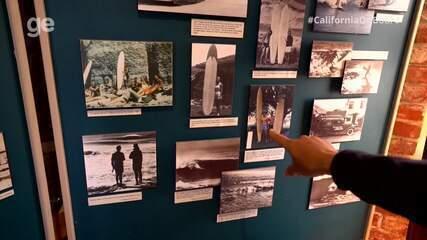 #CaliforniaOnboard: Maya Gabeira visita primeiro museu do surfe do mundo, em Santa Cruz