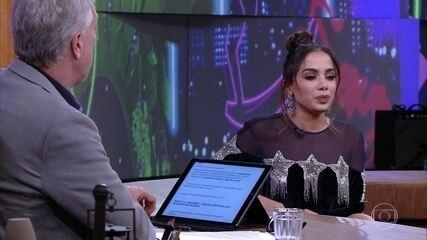 Anitta falou  sobre o preconceito que sofre por ter surgido no funk no 'Conversa com Bial'