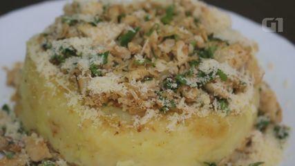 Culinária #013: Aprenda a fazer uma batata suíça de frango com catupiry