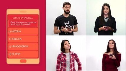 Cauê, Mari Palma, Paula e Luiza enfrentam o desafio do app G1 Enem