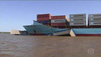 Nove pessoas estão desaparecidas após naufrágio de um rebocador no Rio Amazonas