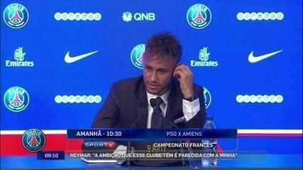 """""""Quero marcar história. Por isso que vim ao Paris"""" diz Neymar"""