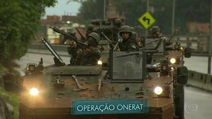 Tropas federais e estaduais estão nas ruas do Rio, na operação Onerat