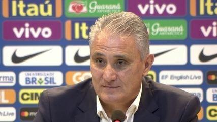 """Tite sobre o Brasil ser o 1º do ranking da Fifa: """"Tanto não ligo, que não sabia"""""""