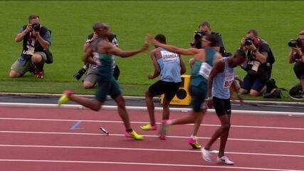 Quarteto do Brasil fica em sexto na eliminatória do rev. masculino 4x400m em Londres