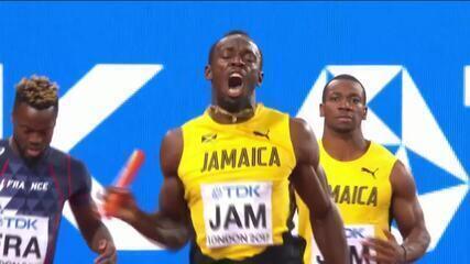 Usain Bolt sente a coxa e cai em sua última corrida no Mundial de Atletismo