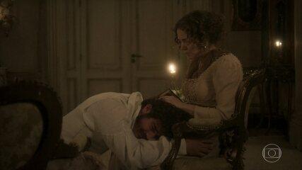 Dom Pedro implora o perdão de Leopoldina