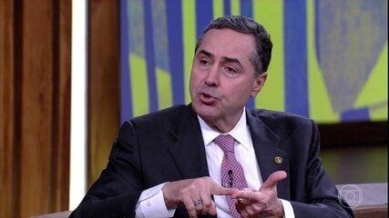 Luís Roberto Barroso falou sobre a legalização da maconha e o combate ao tráfico