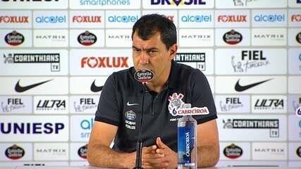 Veja entrevista coletiva de Fabio Carille após derrota do Corinthians para o Atlético-GO