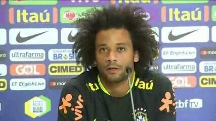 Marcelo se orgulha em ser capitão e Tite fala de nova etapa da Seleção Brasileira