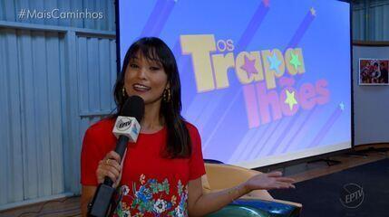 Cris Ikeda acompanhou o lançamento da nova temporada de 'Os Trapalhões'