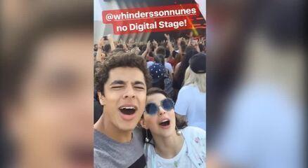 Gabriela Medvedovski e Matheus Abreu curtem show de Whindersson Nunes