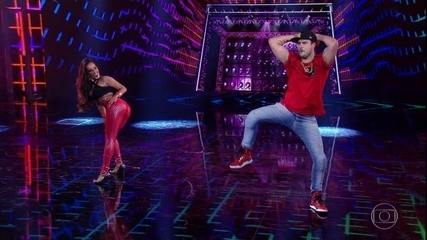 Joaquim Lopes e Tatiana Scarletti empolgam no funk