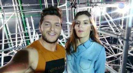 Klebber Toledo e Camila Queiroz decidem enfrentrar a tirolesa do 'Rock in Rio'