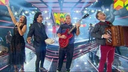 Brown, Ivete, Lulu e Teló cantaram 'Sebastiana'