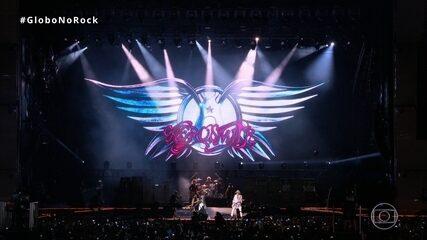 Aerosmith abre show no Rock in Rio com 'Let The Music do The Talking'
