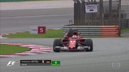 E a emoção segue até depois do fim do GP da Malásia! Vettel e Stroll batem após bandeirada