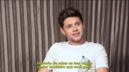 Niall responde perguntas no Gshow