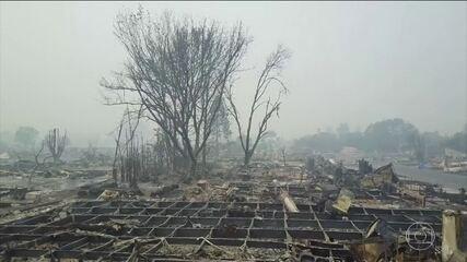 Sobe para 17 o número de mortos por causa de incêndio florestal na Califórnia