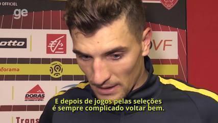 Meunier fala sobre gols marcados na vitória sobre o Dijon