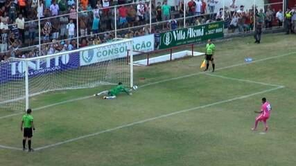 Os pênaltis de Atlético-ES 5 x 3 Espírito Santo, pela final da Copa ES 2017