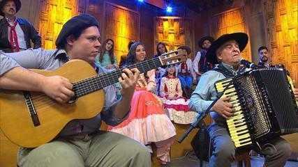 Luiz Carlos Borges abre o 'Galpão Crioulo' com 'Mercedita' (bloco 1)