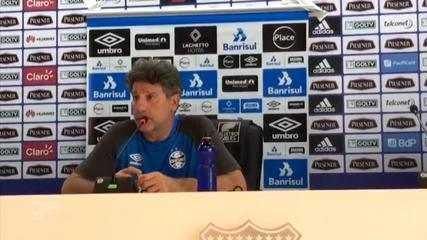 Renato Portaluppi fala de pressão antes de partida contra o Barcelona de Guayaquil