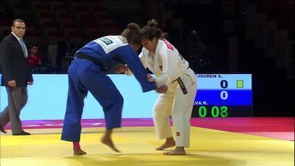 Em reedição de final olímpica, Rafaela Silva leva o troco e fica com a prata em Abu Dhabi