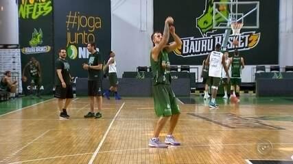 Duda Machado é apresentado na para o NBB e Liga das Américas no Bauru Basket