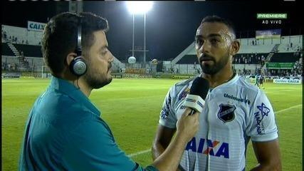 Dalberto, atacante do ABC, fala de superação da equipe após vitória sobre o Londrina