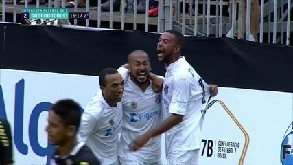 Os gols de Corinthians 1 x 2 Santos pela final da Supercopa de Futebol 7