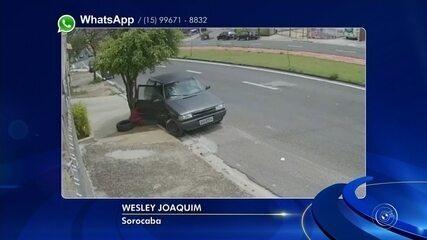 Câmera de segurança flagra furto de carro na zona oeste de Sorocaba