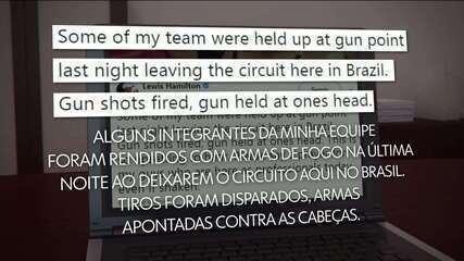 Equipe da Mercedes é assaltada em São Paulo e Hamilton cobra providências