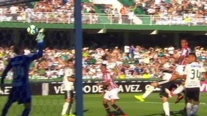 Os gols de Coritiba 1x2 São Paulo pela 37ª rodada
