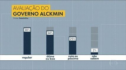 Governo Alckmin em SP tem aprovação de 34% e reprovação de 25%, diz Datafolha